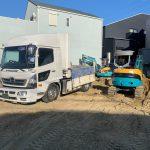 茨木市の基礎工事で残土引き取り処分しました【建設関係のお客様のご利用事例】